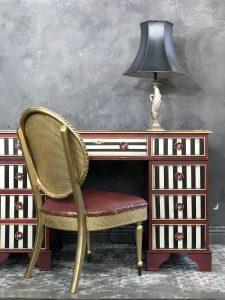 Red striped Desk