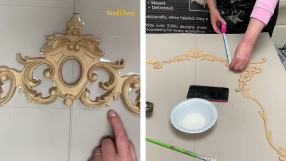 How to create a french wall panel with WooudUbend mouldings