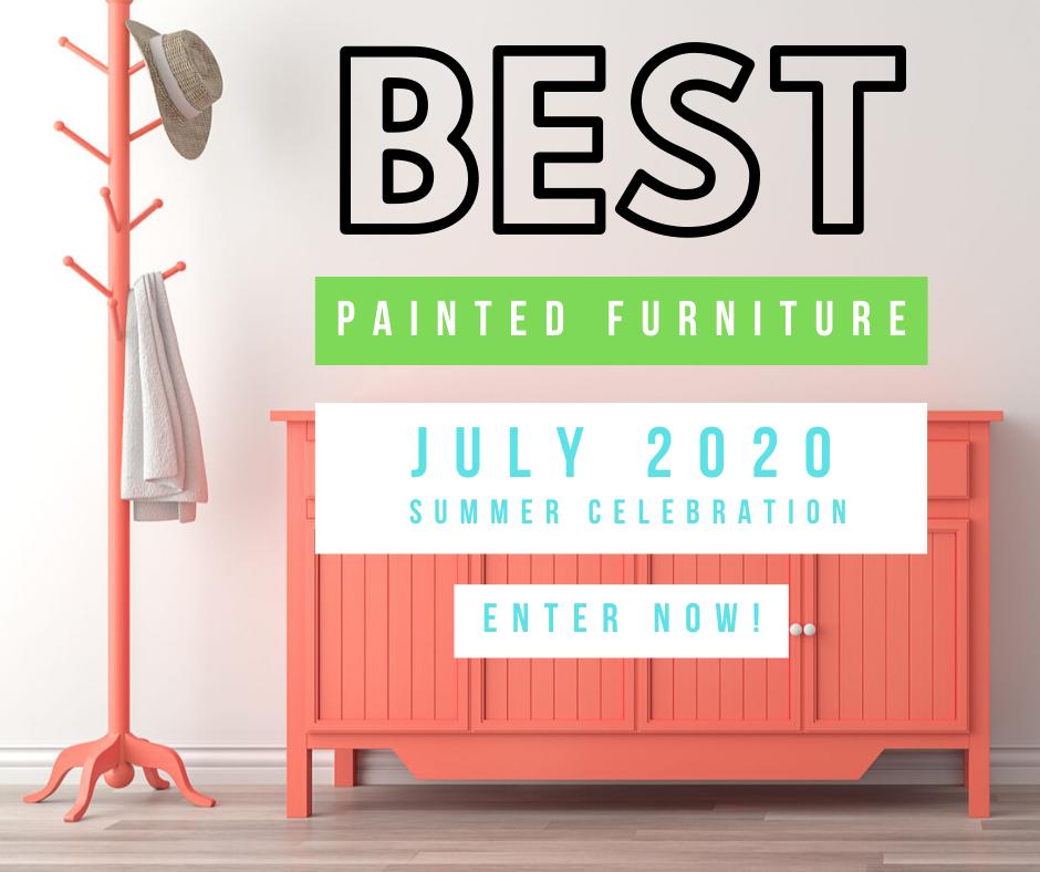 Best painted furniture. Summer celebration.